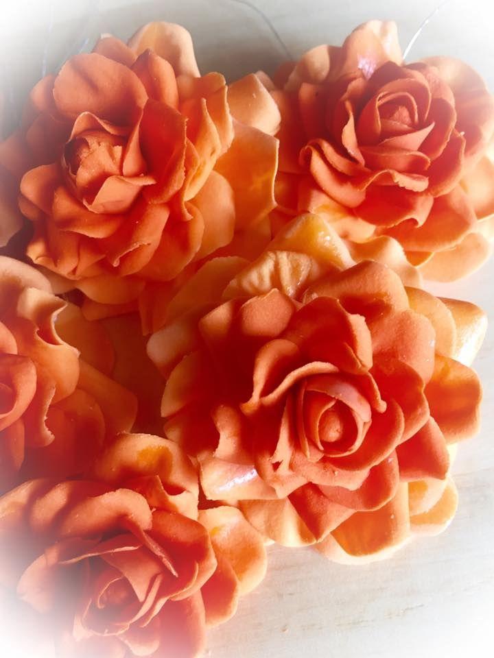 cake orange fondant roses torte orange fondant rosen meine tortendekorationen pinterest. Black Bedroom Furniture Sets. Home Design Ideas