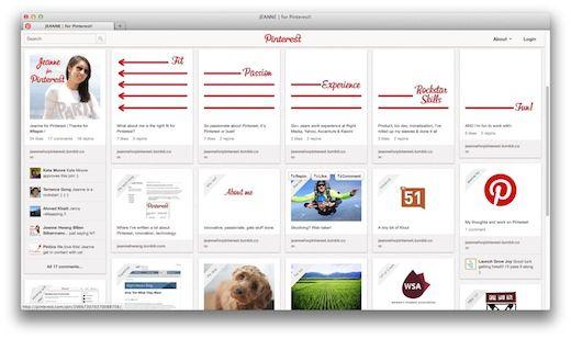 Pinterest User Turns a Pinterest Board into a CV Pinterest