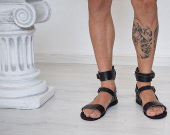 Handmade By Barefoot Spartasandals 100Genuine Men Sandals eBdCrxo