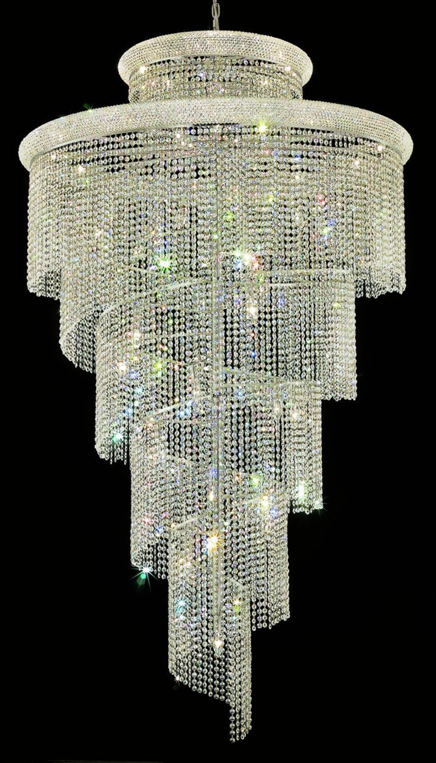 48 X 96 With Images Large Foyer Chandeliers Crystal