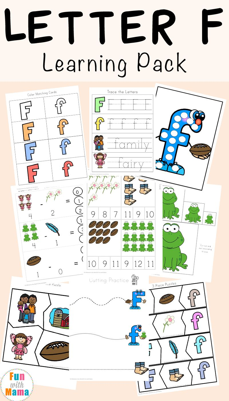 Free Letter F Worksheets | Deutsch