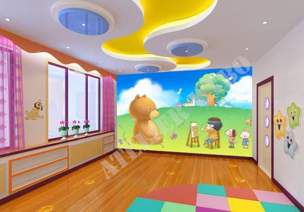 papier peint enfant cole maternelle atelier wybo papier peint personnalis tapisserie. Black Bedroom Furniture Sets. Home Design Ideas