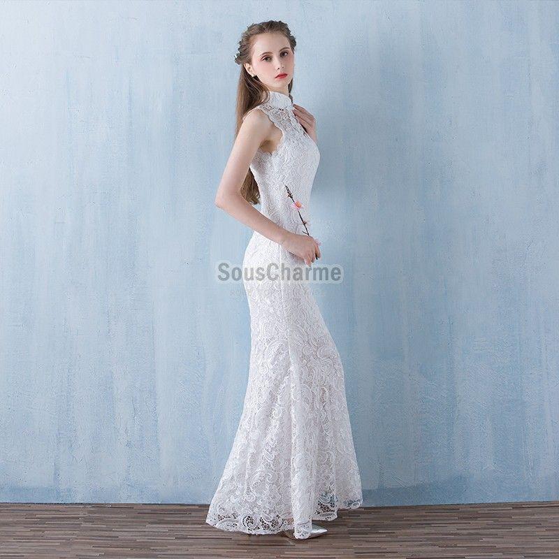 Robe en dentelle blanche pour mariage