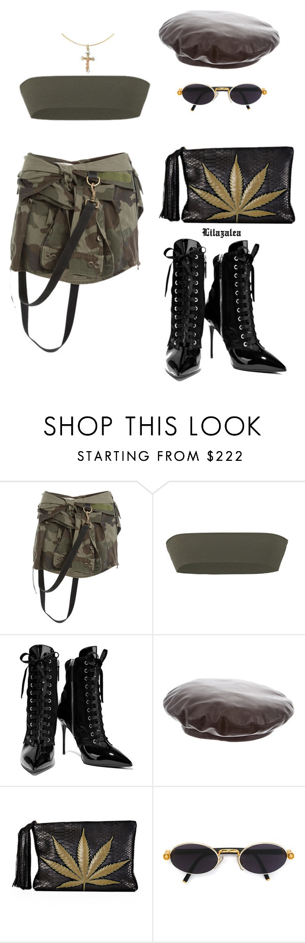 """""""Don't make me"""" by fashionoise ❤ liked on Polyvore featuring Faith Connexion, Versace, Giuseppe Zanotti, Gucci, Jacquie Aiche, Gianfranco Ferré and Cross"""