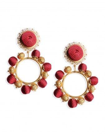 Dolce & Gabbana Rose Beaded Hoop Earrings | Jewelry ...