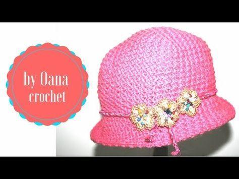 Cappellino all'uncinetto per bimba by Oana - YouTube ...