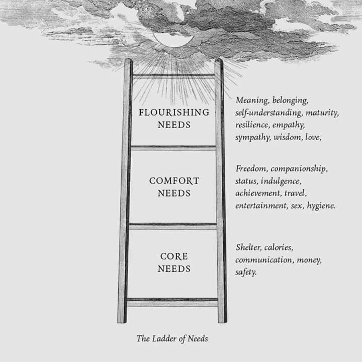 The Ladder Of Needs School Of Life Alain De Botton With Images