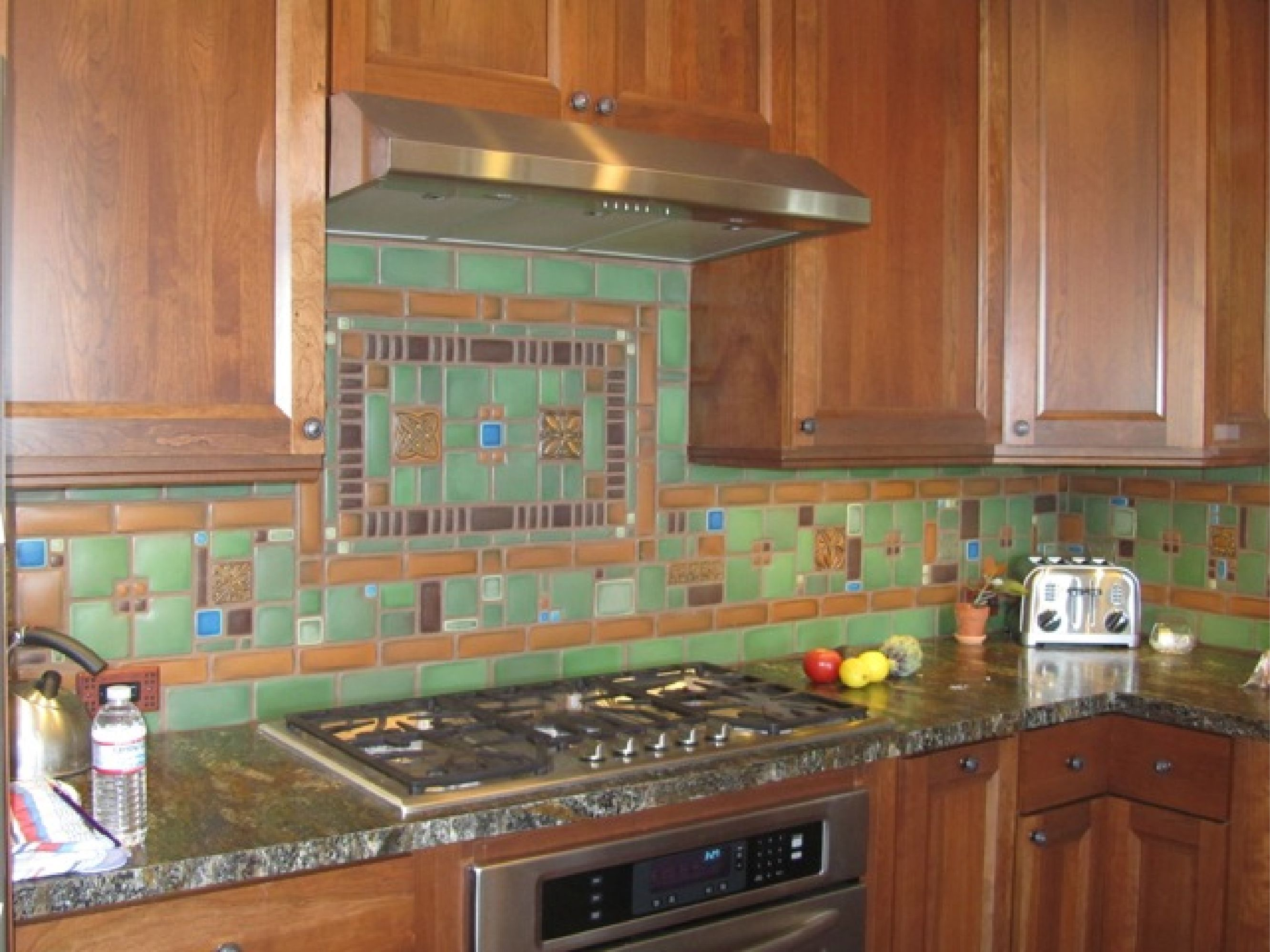Motawi Collage Kitchen Backsplash by Tom Gerardy of Craftsman Revival