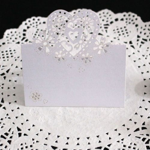 25-50-100-WEDDING -PARTY-PEARLESCENT-LASER-CUT-LOVE-HEARTS-PLACE-CARDS-TABLE-NAME