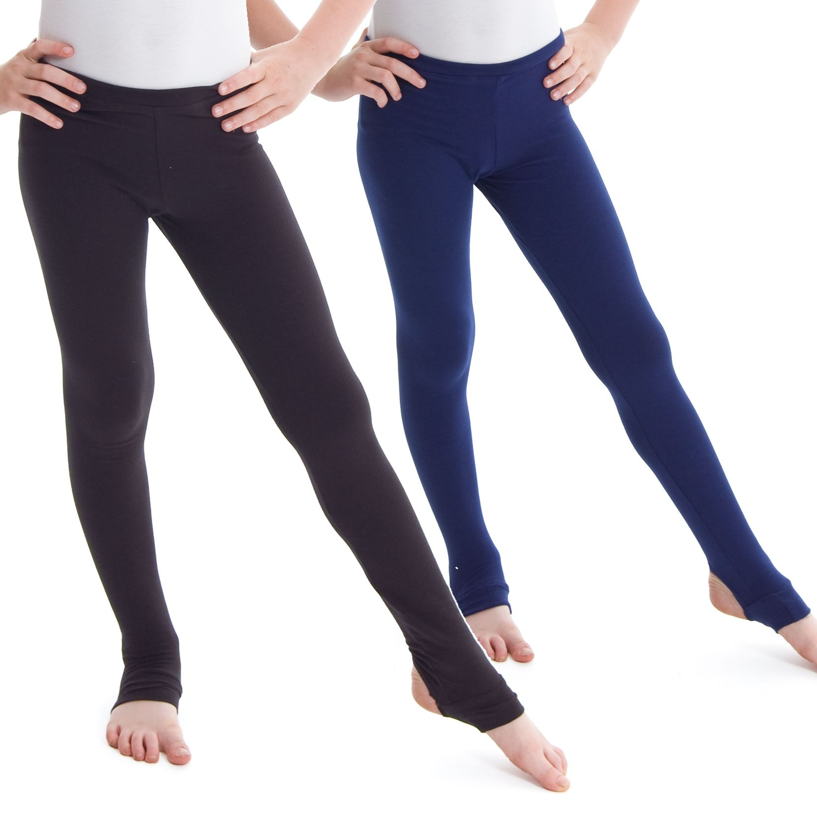 161882fd4c199 Made with Cotton Lycra and an elasticated waistband with stirrups.  Available in Black or Navy only. Child and Adult sizes available. Visit  www.dancegear.co. ...