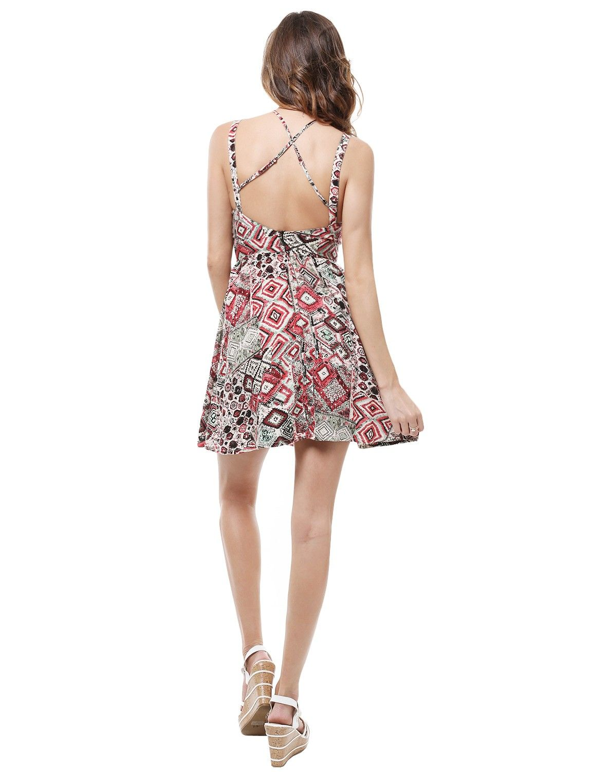 Printed Shift Mini Dress With Padded Cups #11foxy