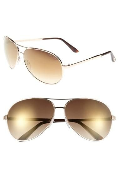 4364a6d1da964 Women s Tom Ford  Charles  62mm Sunglasses - Shiny Rose Gold  Havana from  Nordstrom. Saved to jewelry.