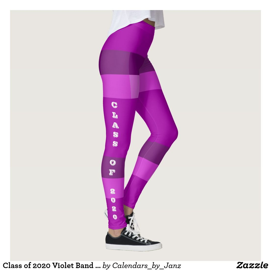 Best Tights 2020 Class of 2020 Violet Band Leggings by Janz | Zazzle.| Class of