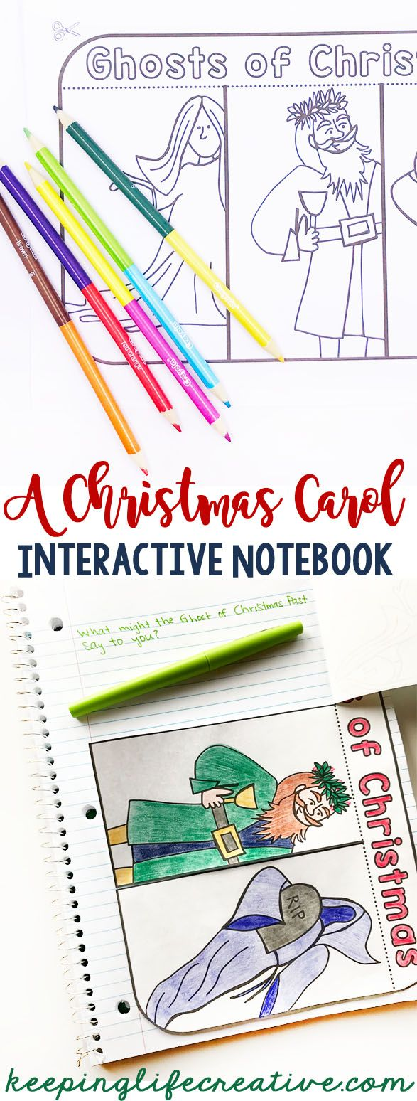A Christmas Carol Interactive Notebook Activities