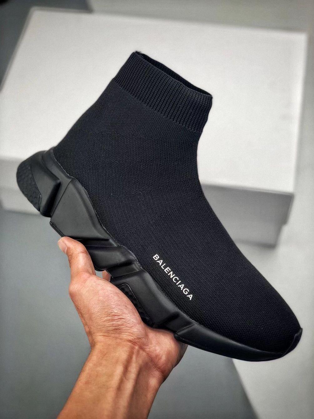 mens black balenciaga trainers
