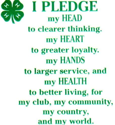 photograph relating to 4-h Pledge Printable referred to as 4h pledge a lot more heading toward pay back period working out or becoming