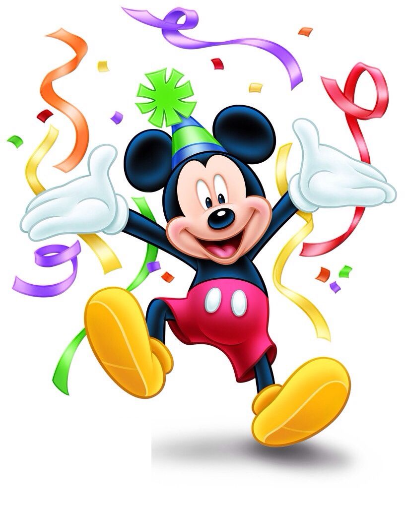 Happy Bday Mickey With Images Happy Birthday Mickey Mouse