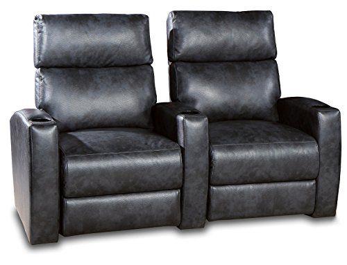 Charmant Row One RO8066 02PS Galaxy Power 2 Chair Straight Row, Dark Grey