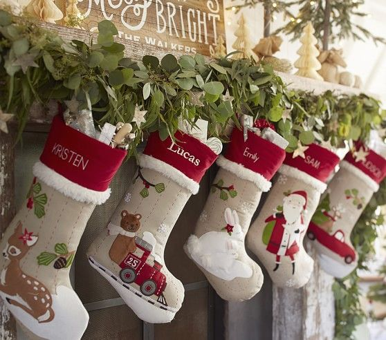 Woodland Stocking Collection | Pottery Barn Kids | Holiday Decor ...