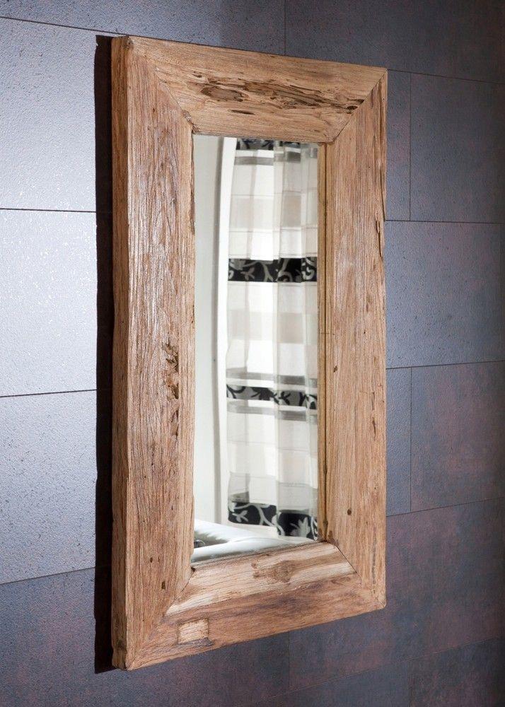 Spiegel mit Massivholzrahmen aus Teak Altholz 60x100 21263 Buy - spiegel f r schlafzimmer