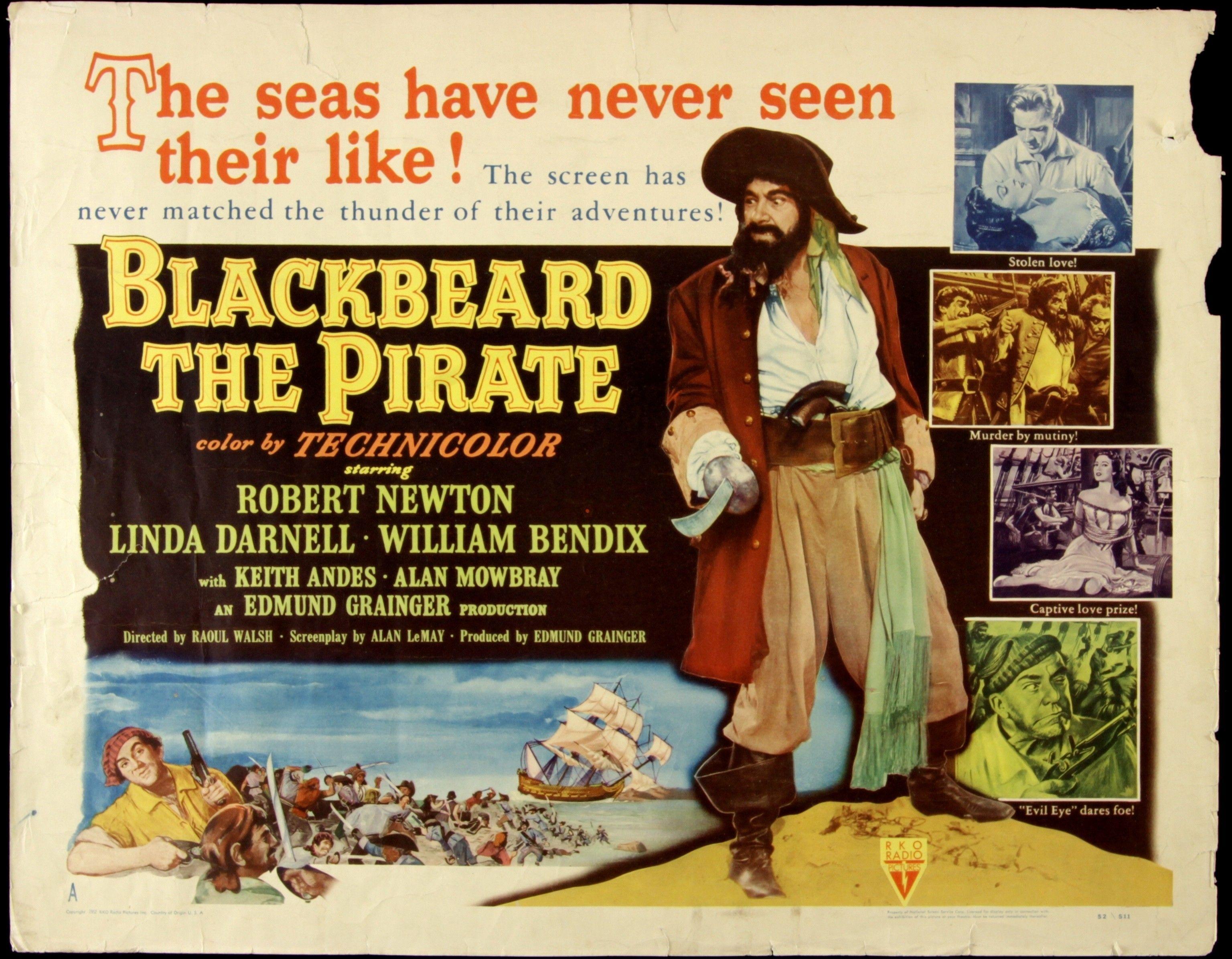 Blackbeard The Pirate 1952 Movie