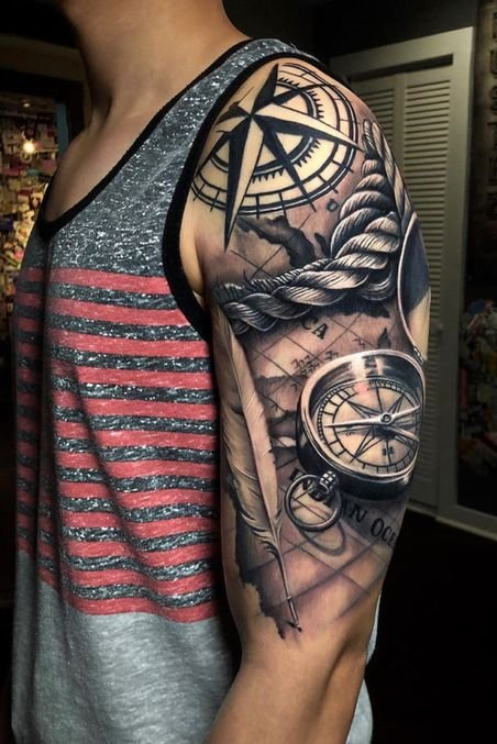 Shoulder Tattoos for Men #sleevetattoos #full sleeve tattoos #sleeve tattoos #sleeve tattoos for guys #sleeve tattoos for women