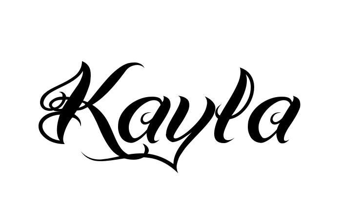 Tattoo Name Kayla Using The Font Style Bad Hand One Regular