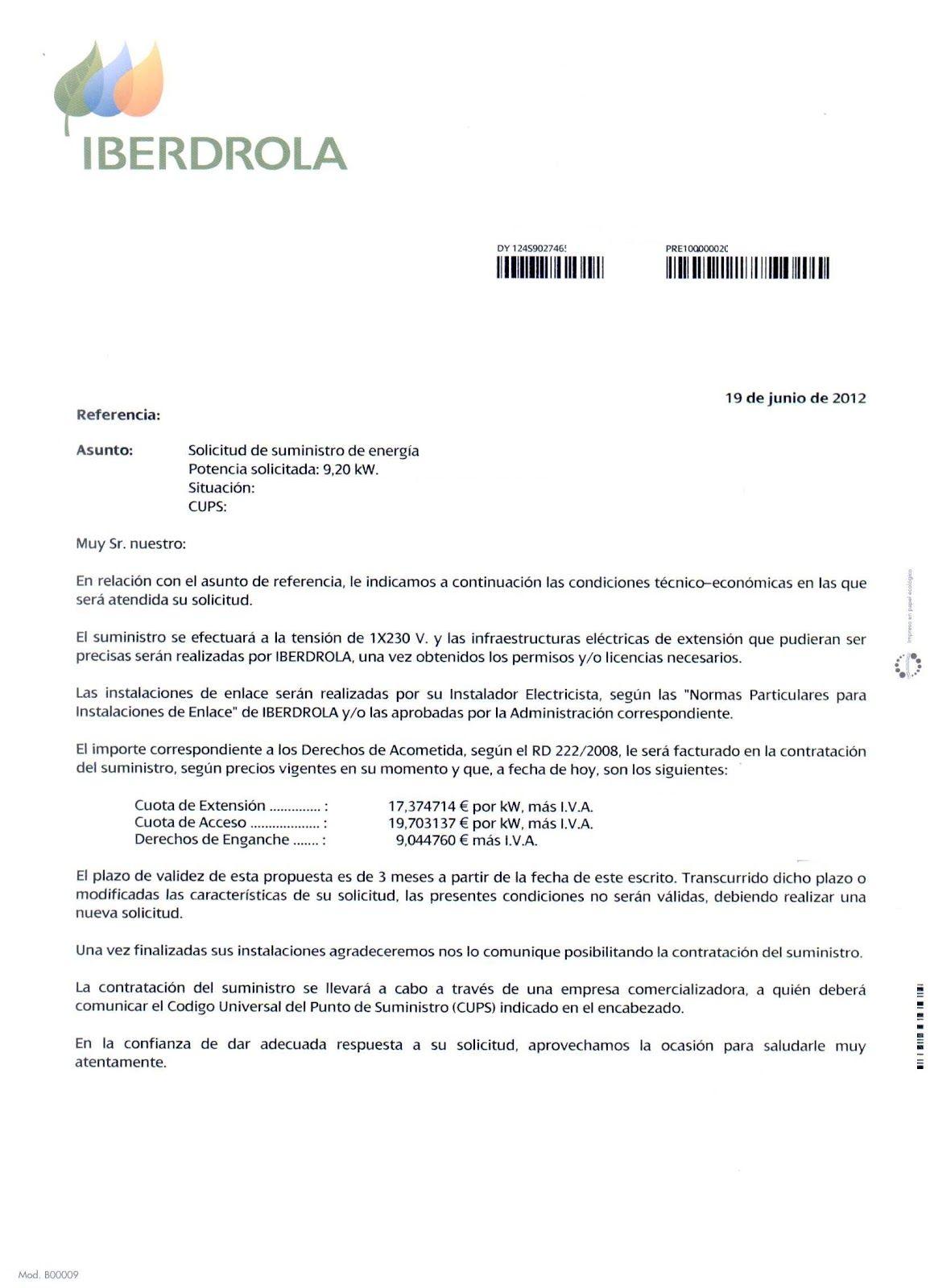 contrato de suministro de la luz | Contratos de compraventa ...