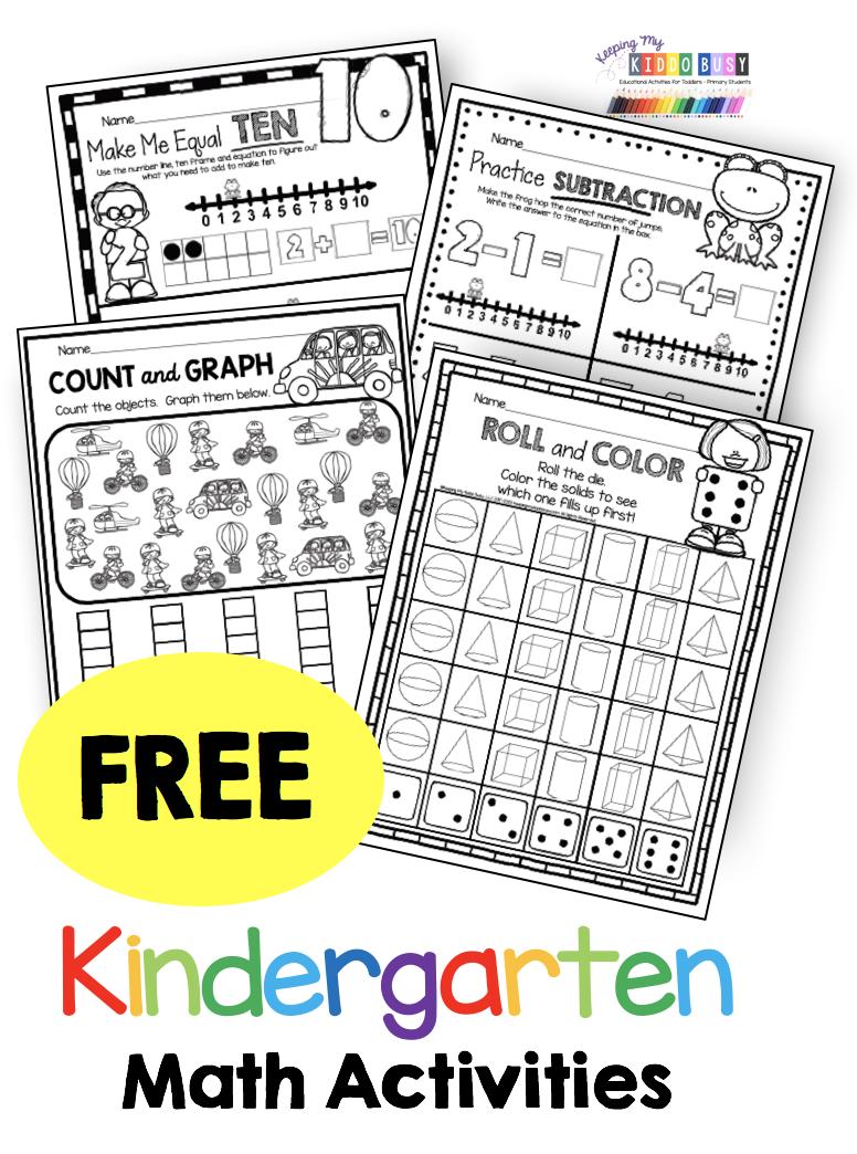 Free Kindergarten Math Resources Centers Worksheets And Printables Kindergarten Math Free Kindergarten Math Activities Kindergarten Math Worksheets Free