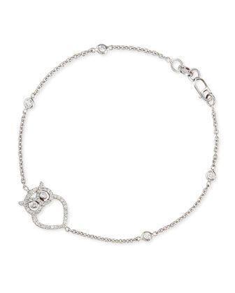 Owl charm bracelet Pinned by www.myowlbarn.com