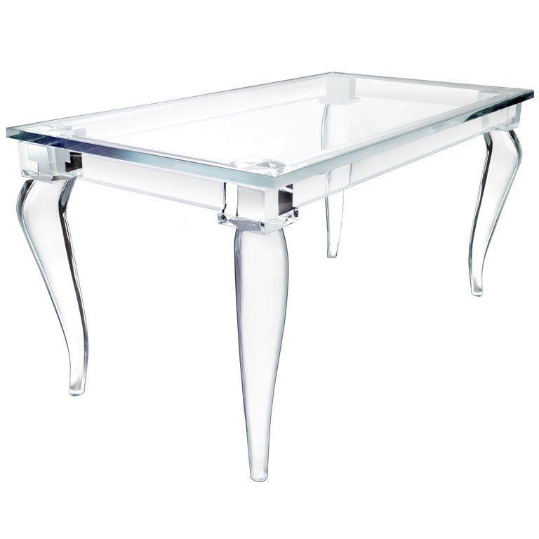 Bon Crenelle Lucite Desk By Craig Van Den Brulle | 1stdibs.com