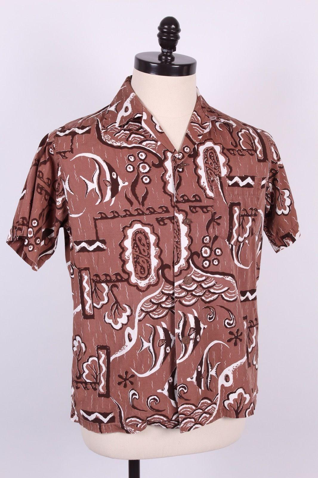 "ALFRED SHAHEEN ""ANGEL FISH"" COTTON 50s   40s-60s Tapa, Petroglyphs ... : hawaiian quilt tattoo - Adamdwight.com"