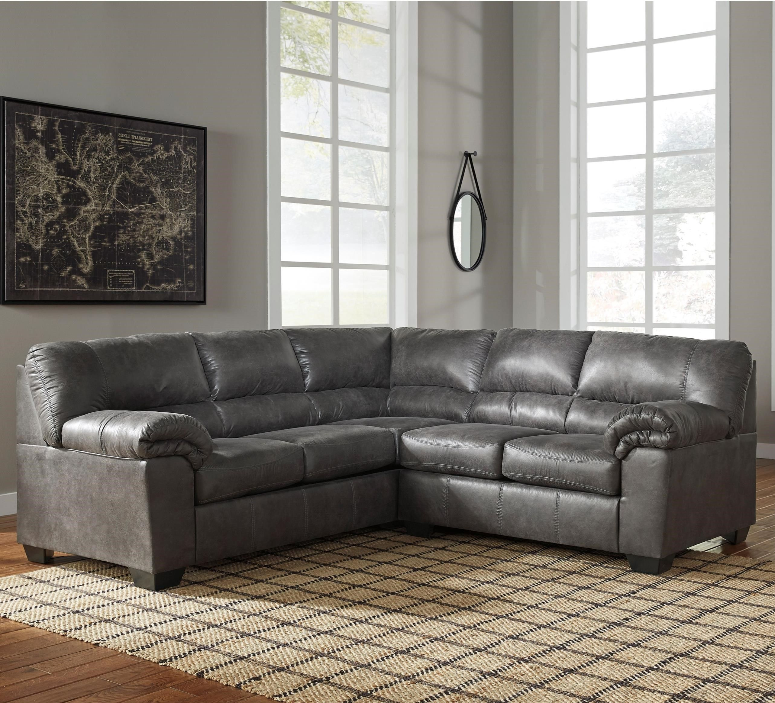 Bladen Two Piece Faux Leather Sectional