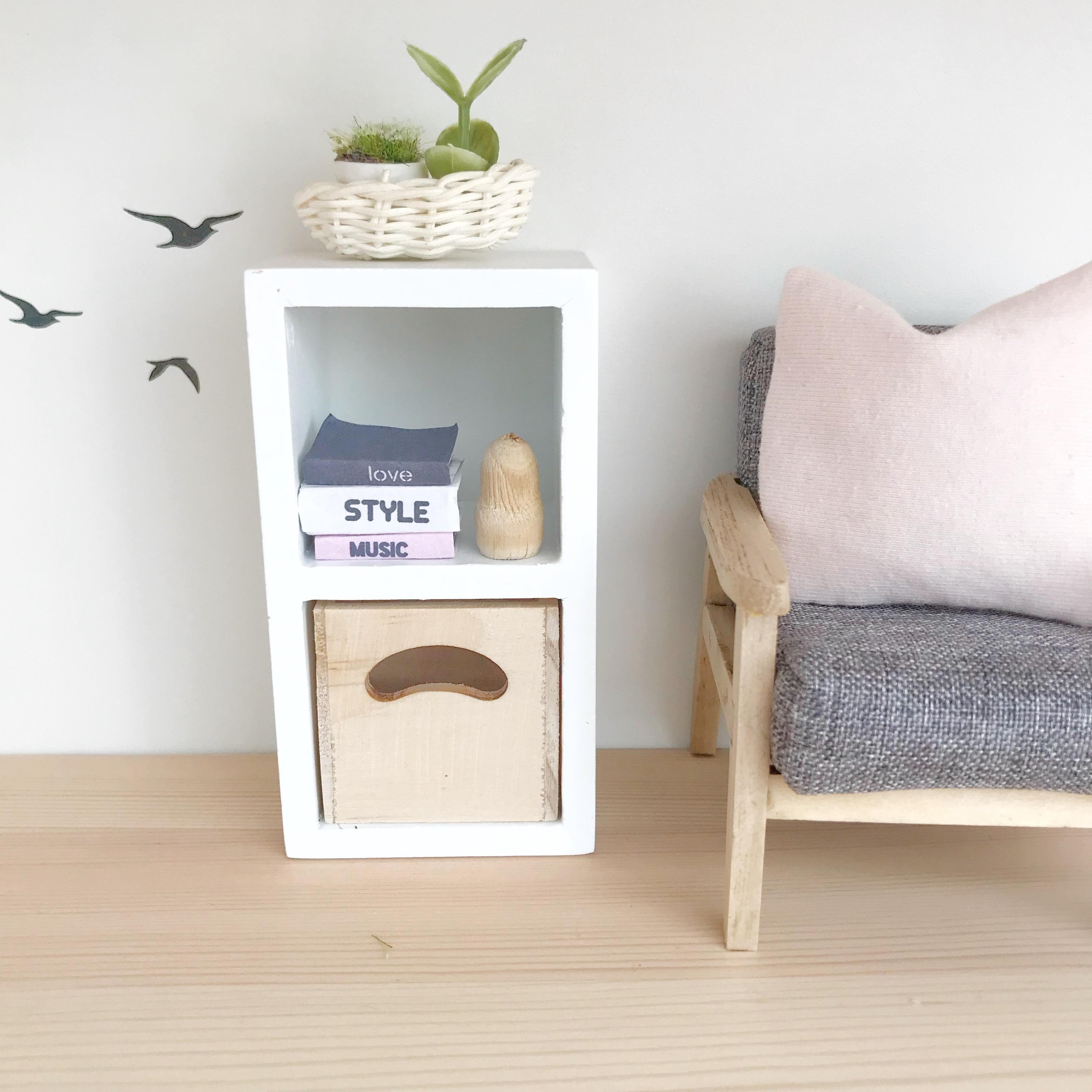 diy dollhouse furniture. Dollhouse Storage Unit, Modern Furniture, DIY  Ideas, Interior, Furniture Diy