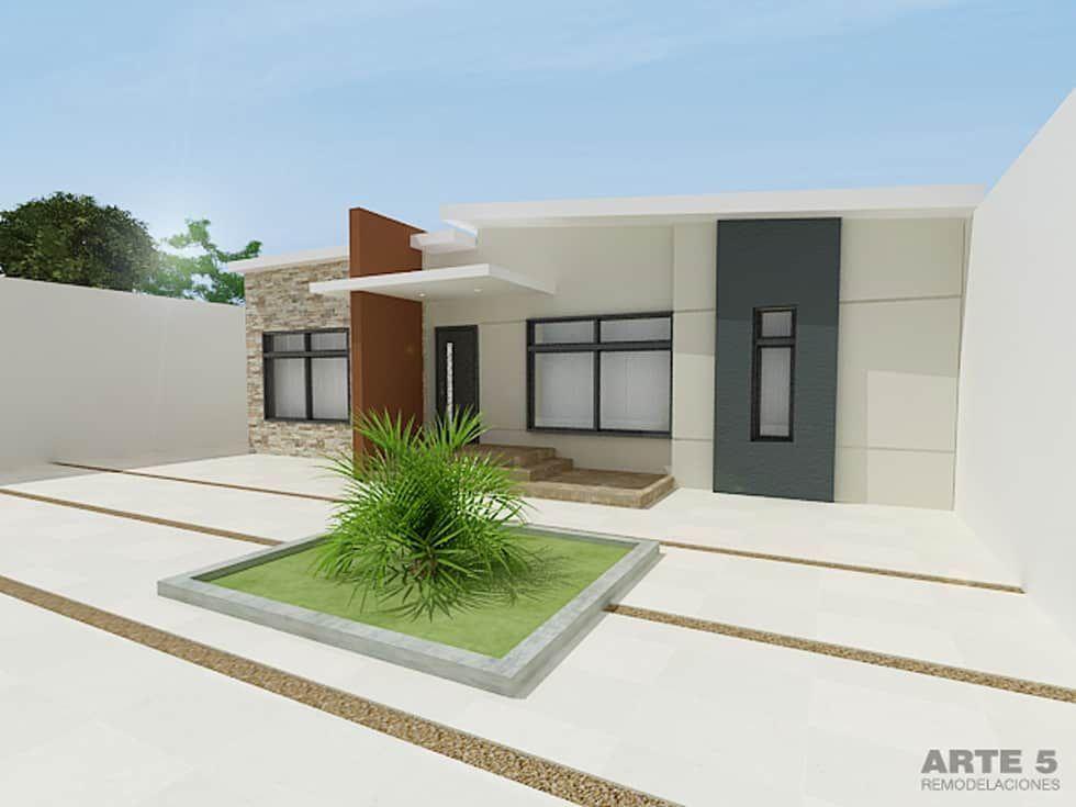 Casas de estilo por arte 5 remodelaciones fachadas for Casas pequenas estilo minimalista