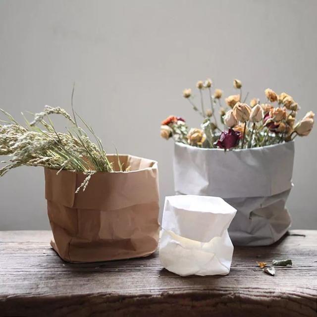 Paper Bag Flower Pot Diy Paper Bag Flowers Paper Pot Flower Pots