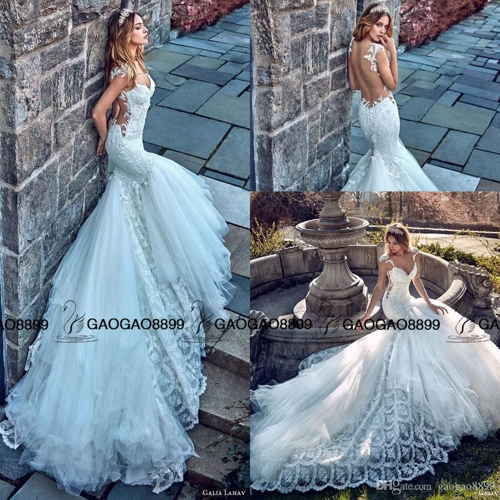 Pnina Tornai 2017 Bridal Cap Sleeves Sweetheart Mermaid Wedding ...