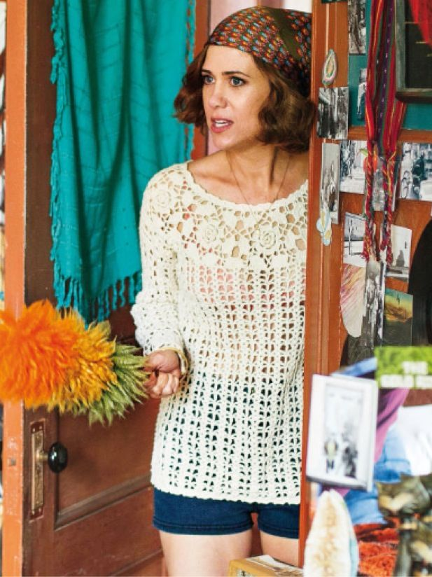 "Kristen Wiig rocks a retro crochet look to play a 70s mom in ""Diary of a Teenage Girl"""