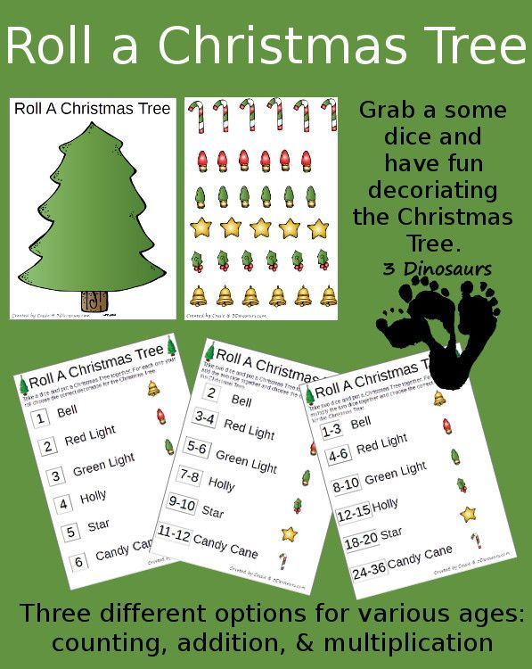 free roll a christmas tree printable christmas worksheets printables for kids pinterest. Black Bedroom Furniture Sets. Home Design Ideas