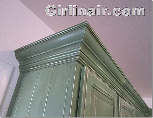 classy - ignore the color) how to add crown molding to cabinets