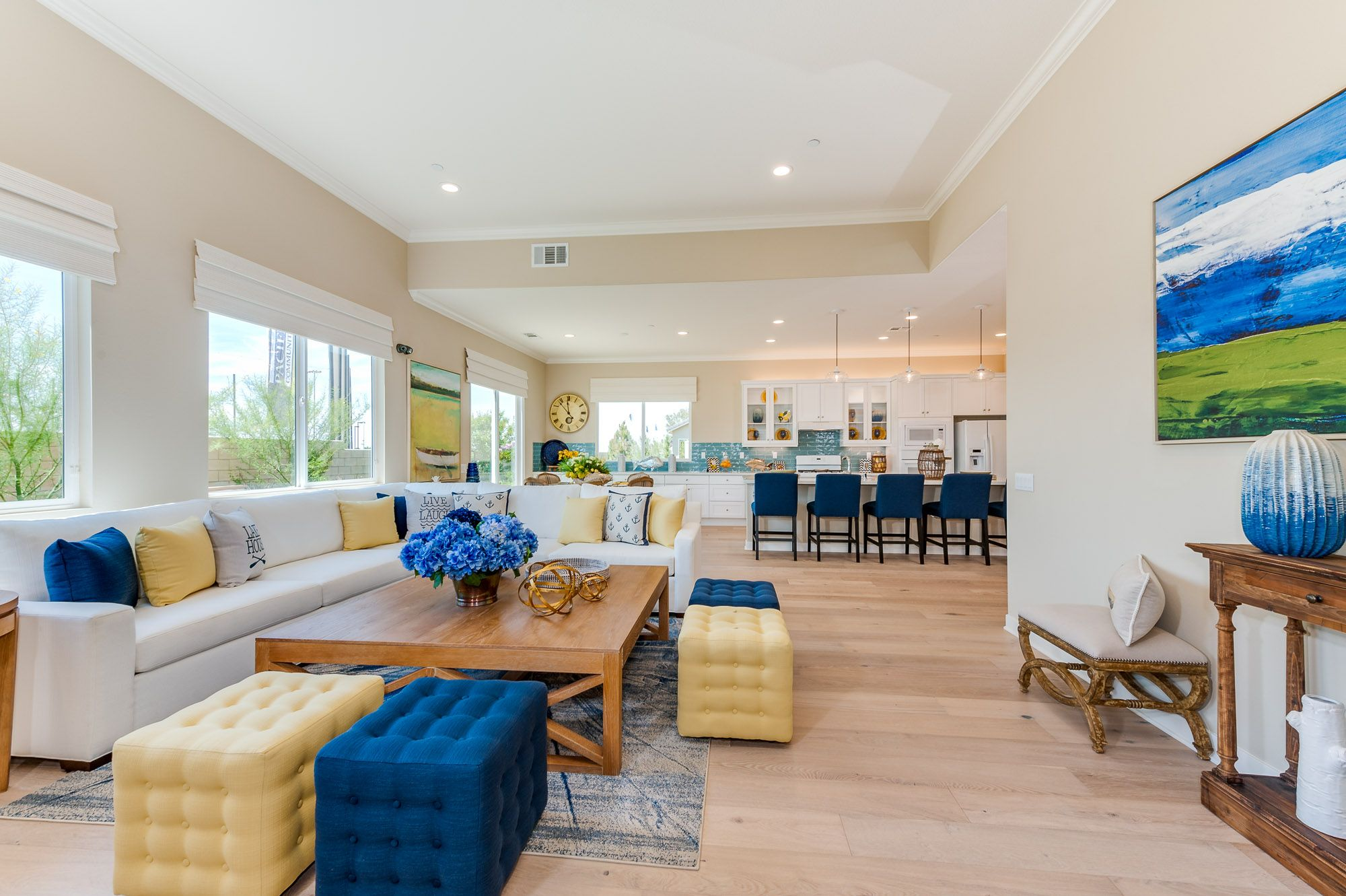 Pacific Melrose Plan 2 Model Home Family Room Pacific Communities