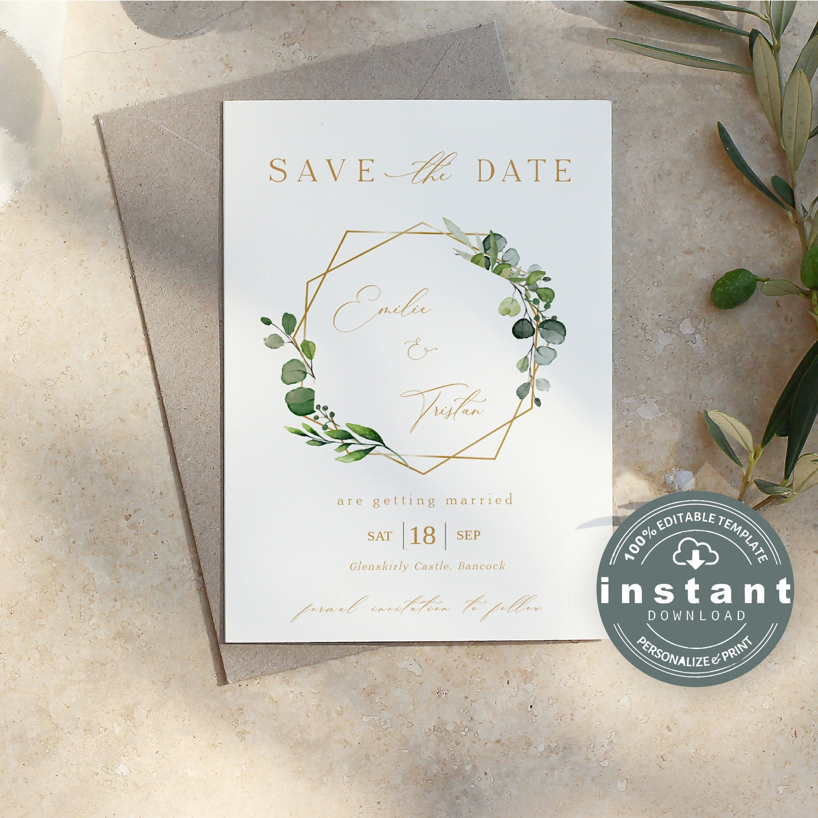 Wedding Save The Date Card Printable Instant Download Etsy In 2021 Wedding Saving Wedding Save The Dates Save The Date Invitations