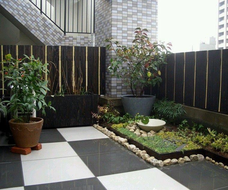 terraza pequeña plantas estilo zen Garden Pinterest Estilo zen - decoracion de terrazas con plantas