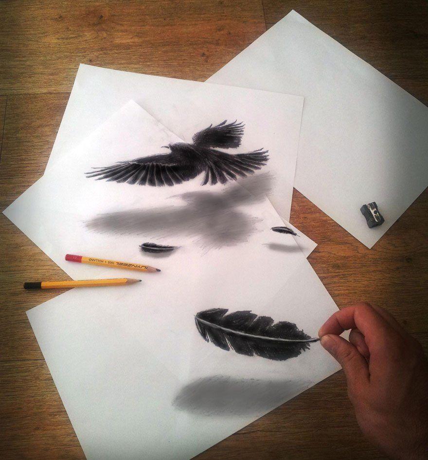 33 Increibles Dibujos Pintados A Mano Que Parecen Reales Dibujos 3d A Lapiz Dibujo De Ilusion Optica Dibujos 3d