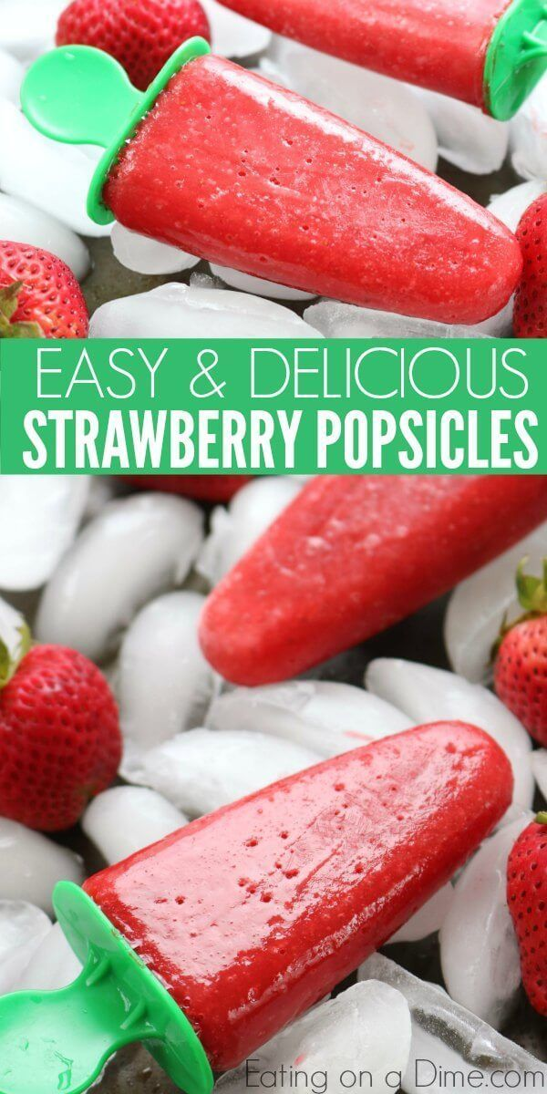 Photo of Strawberry Popsicles – Fresh Strawberry Popsicle Recipe