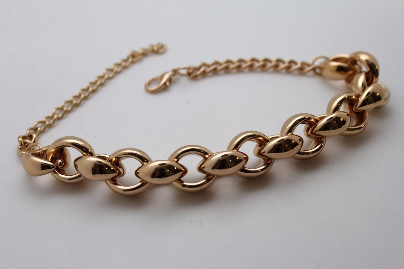 Gold metal chains big thick links anklet shoe charm boot bracelet