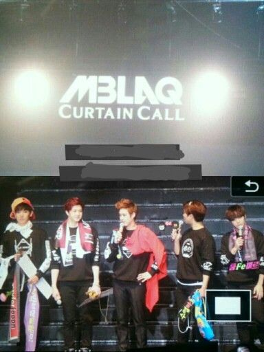Mblaq At Their Concert Curtain Call Curtain Call Concert Talk Show