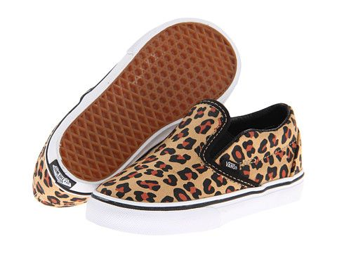 67db50b9d6 Vans Kids Classic Slip-On (Infant Toddler) (Leopard) Black True White -  Zappos.com Free Shipping BOTH Ways