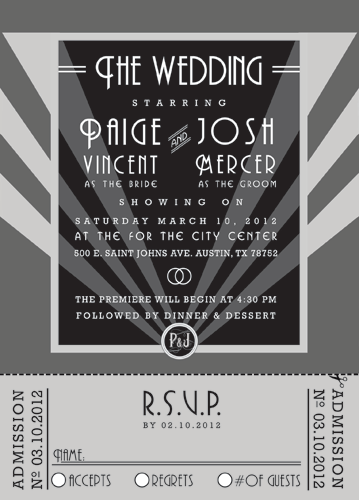 Old Hollywood Wedding Invitation | Gala | Pinterest | Hollywood ...