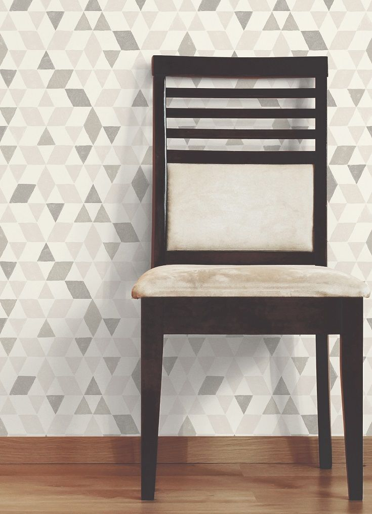 A Neutral Geometric Wallpaper Is The Perfect Background